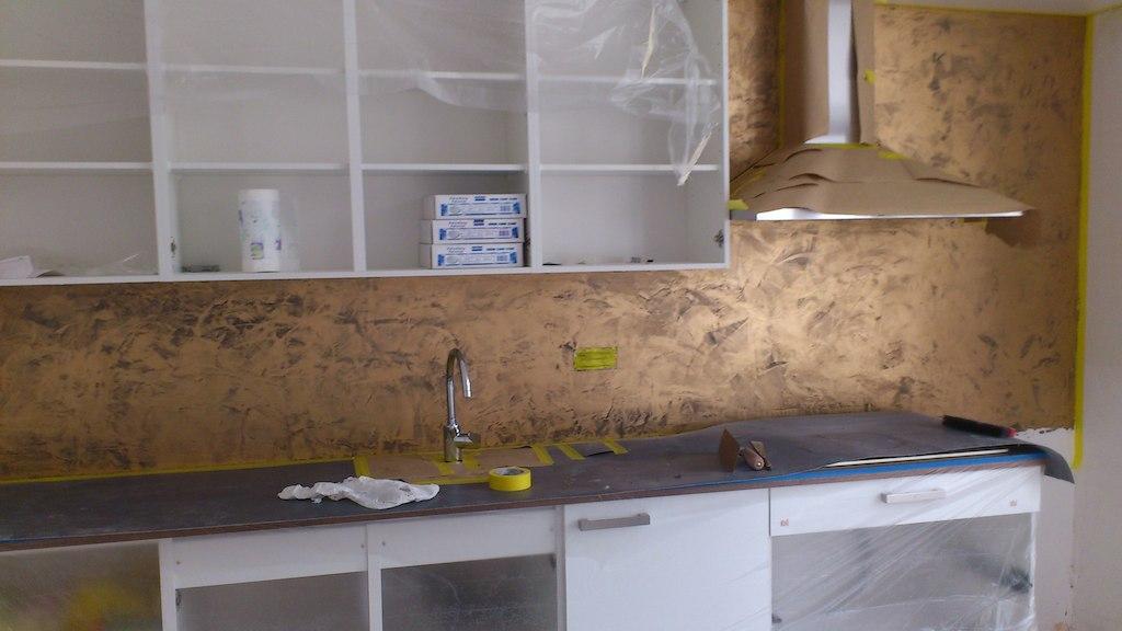 Glad Keuken Achterwand : Keuken frescolori stukadoorsbedrijf van der windt